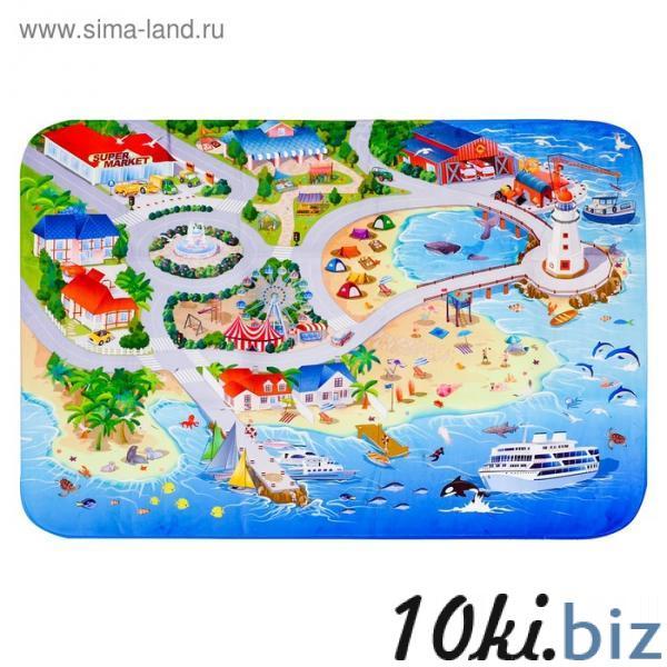 Детский ультрамягкий игровой коврик «На пляже», размер 180х130 см купить в Гродно - Развивающие и игровые коврики