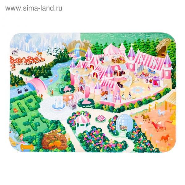 Детский ультрамягкий игровой коврик «Замок», размер 180х130 см
