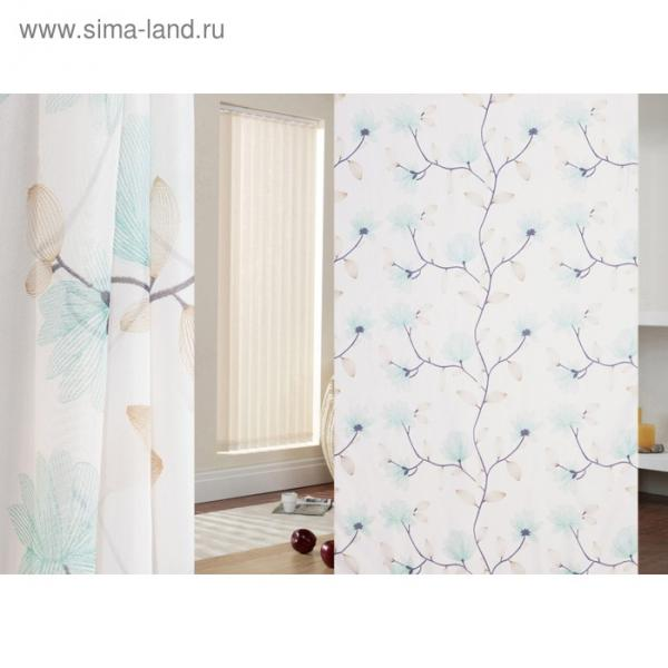 Ткань тюлевая Lamella в рулоне, ширина 280 см, вуаль, печать 93808
