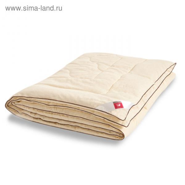 "Одеяло лёгкое ""Милана"", размер 110х140 см, сатин, шампань"