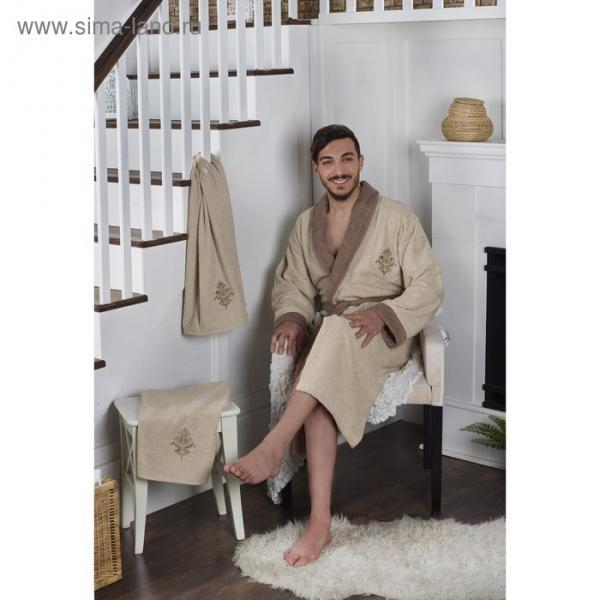 Набор Adra, халат 3XL, полотенца 50х90 см, 70х140 см, по 1 шт., бежевый