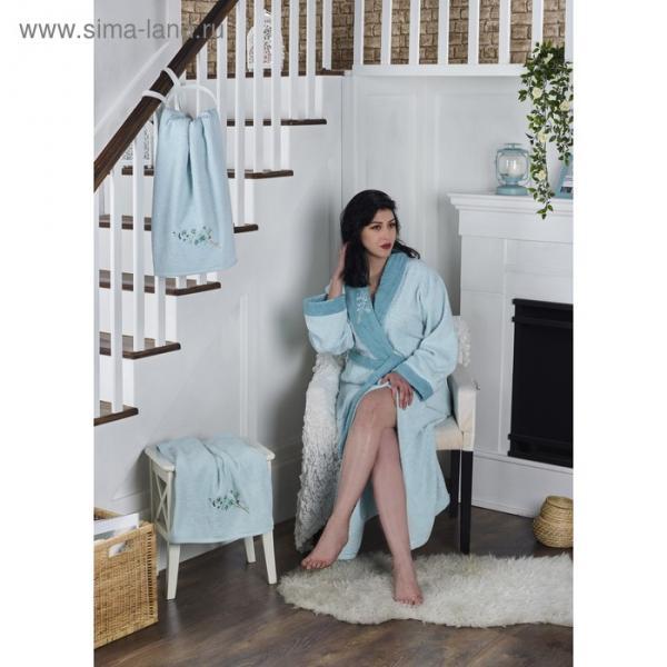 Набор Adra, халат L/XL, полотенца 50х90 см, 70х140 см, по 1 шт., ментол