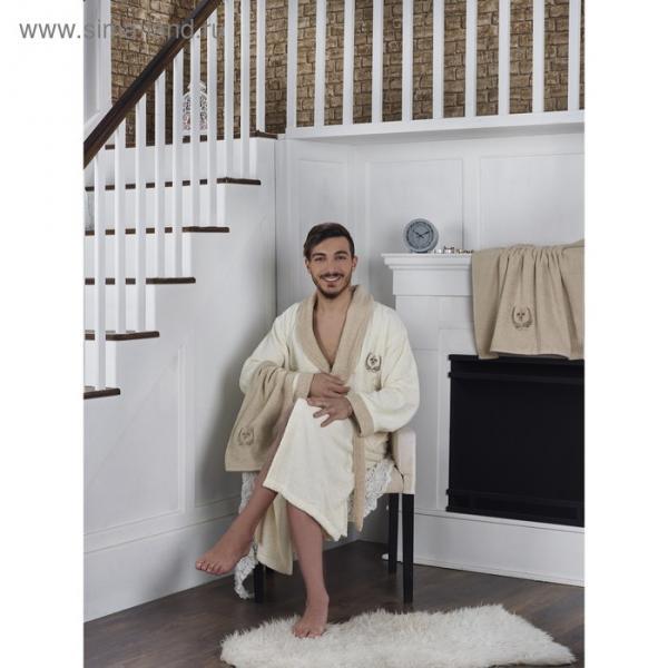 Набор Adra, халат L/XL, полотенца 50х90 см, 70х140 см, по 1 шт., кремовый