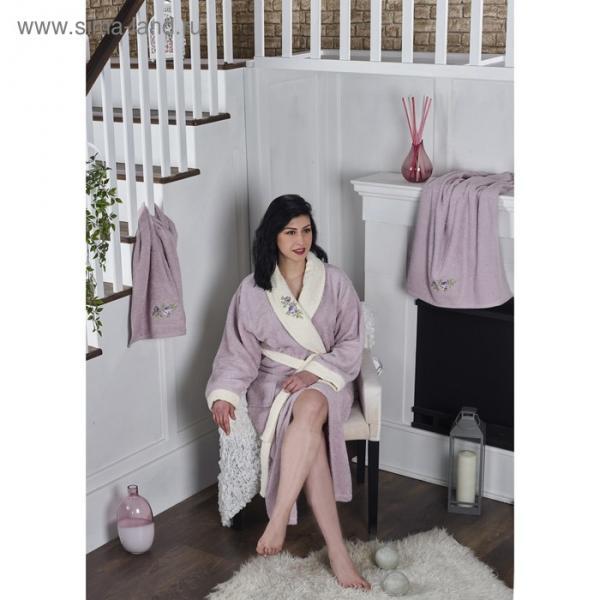 Набор Adra, халат S/M, полотенца 50х90 см, 70х140 см, по 1 шт., лаванда
