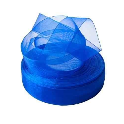 Фото Ленты, Лента органза однотонная Лента  органза  4 см .  Цвет  Синий  (  Электрик )