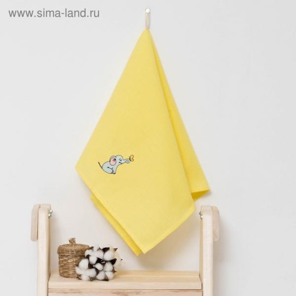 """Полотенце детское """"Доляна"""" Слоник, цвет солнечный 40х70 см, 100% хлопок, 150 г/м²"""