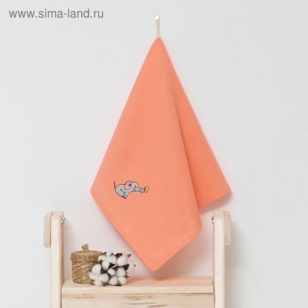"""Полотенце детское """"Доляна"""" Слоник, цвет коралловый 40х70 см, 100% хлопок, 150 г/м²"""