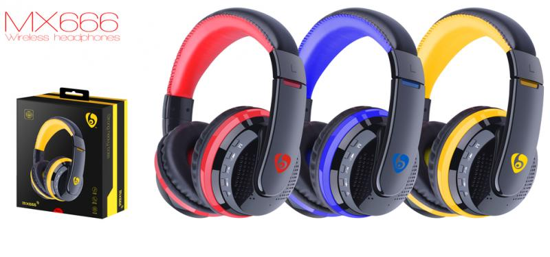 Наушники OVLENG MX666 Bluetooth Black-Red