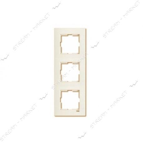 Рамка трехместная Viko Karre 0232 вертикальная крем