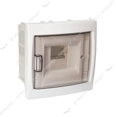 Коробка под 4 автомата BYLECTRICA КНС-4Д со стеклом, для внутр.монтажа (белая) Беларусь