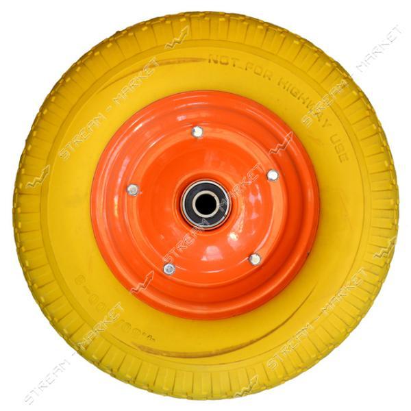 Колеcо на тачку 4.0-8 пена (ширина резины 4, 0 дюйма, диска 8 внутр. d20)