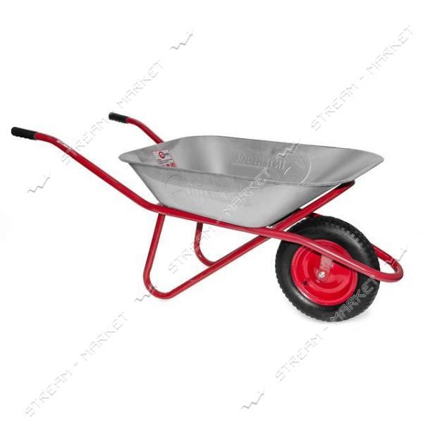 INTERTOOL WB-0615 Тачка садово-строительная, 65л 150кг, 1 пневмоколесо с подшипником 14' (3.50-8)