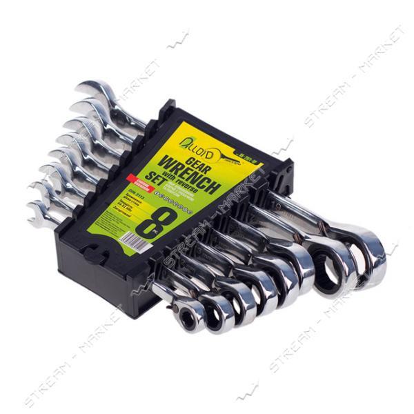 ALLOID (НК-2081-8К) Набор комбинированных ключей трещоточных с карданом 8 предм. (8-19мм)