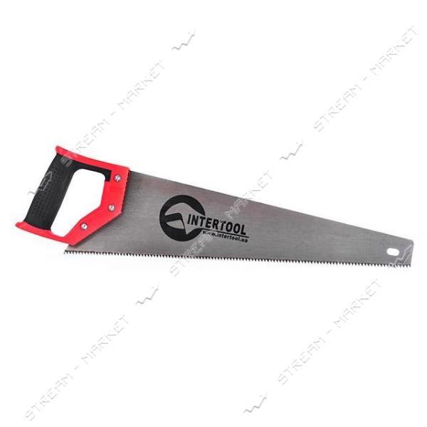 Ножовка INTERTOOL HT-3102 по дер. с каленым зубом 450мм, 55 HRC