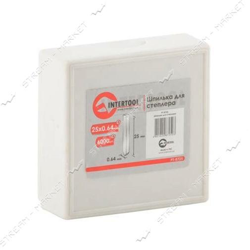 Шпилька для степлера INTERTOOL PT-8725 PT-1611 25мм d = 0.64мм 6000шт/упак.