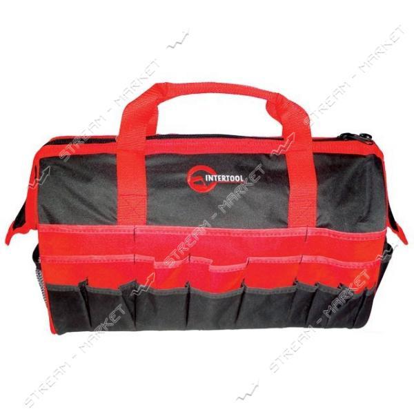 INTERTOOL BX-9002 Сумка для инструментов 20 карманов 495*267*343