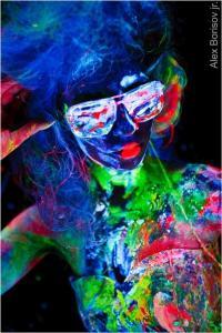 Фото Флуоресцентные пигменты Флуоресцентный пигмент зеленый100 гр