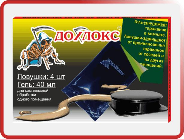 Ловушки (4 шт) и гель (40 мл) «Дохлокс» - 1 уп.