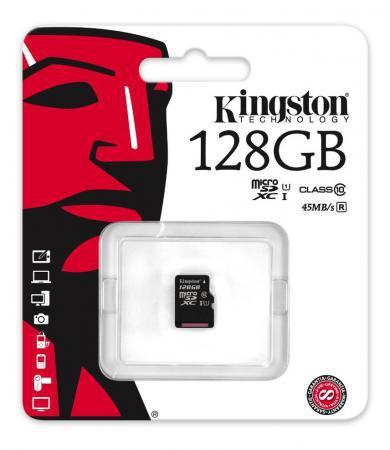 Карта памяти Micro SDXC 128GB Class 10 Kingston SDC10G2/128GBSP без адаптера