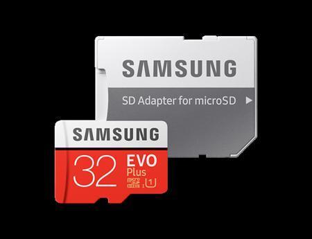 Карта памяти Micro SDHC 32Gb Class 10 Samsung EVO PLUS UHS-I U1 MB-MC32GA/RU + SD adapter