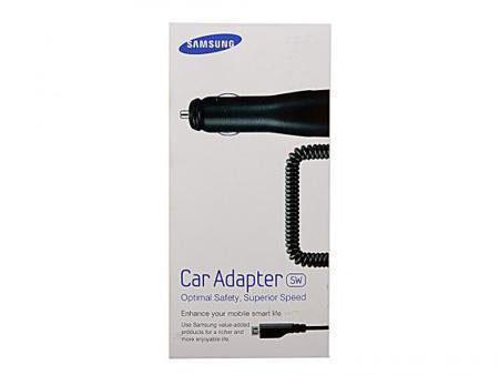 Автомобильное зарядное устройство Samsung ECA-U16CBEGSTD 1A microUSB черный