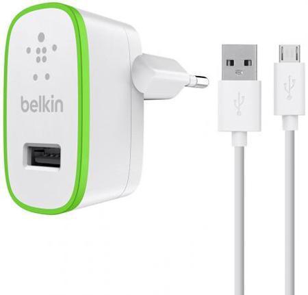 Сетевое зарядное устройство Belkin F8M886vf04-WHT 2.4А microUSB белый