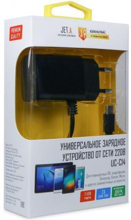 Сетевое зарядное устройство Jet.A UC-C14 2.1A USB-C черный