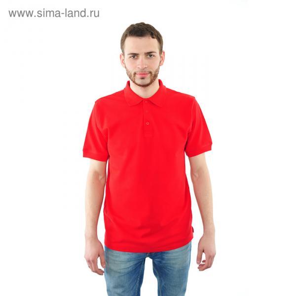 Футболка поло мужская арт.PM0110301031StandartL, цвет красный, р-р 46-48 (M)