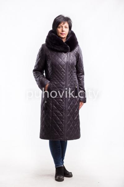Зимнее пальто на верблюжьей шерсти Michelle18079 Розовый, 56
