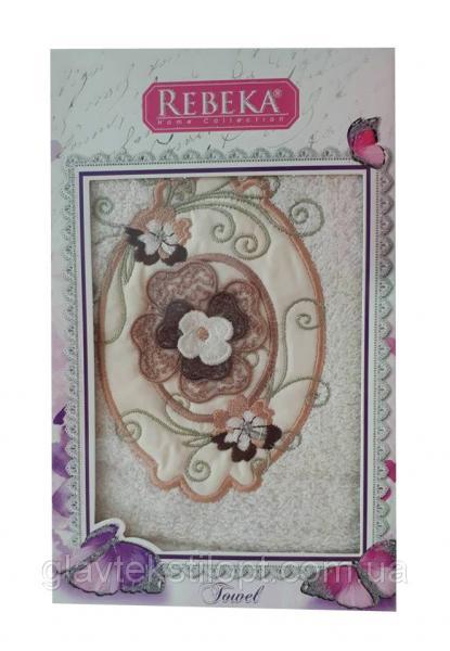 Махровое полотенце 50*90 Rebeka Турция в подарочной упаковке