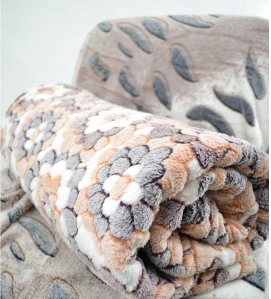 Плед микрофибра Снежок двуспалка (180*220)