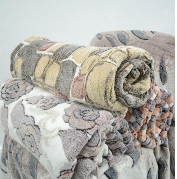 Фото Пледы и покрывала, Флисовые пледы Плед микрофибра Снежок двуспалка (180*220)