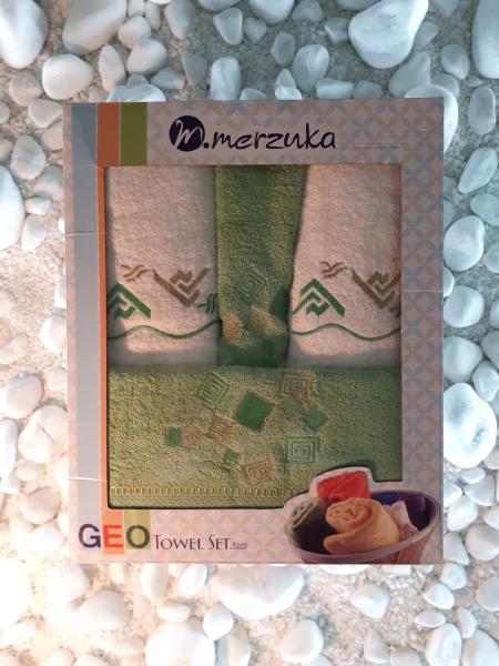 Подарочный набор полотенец Merzuka Турция (4 шт)