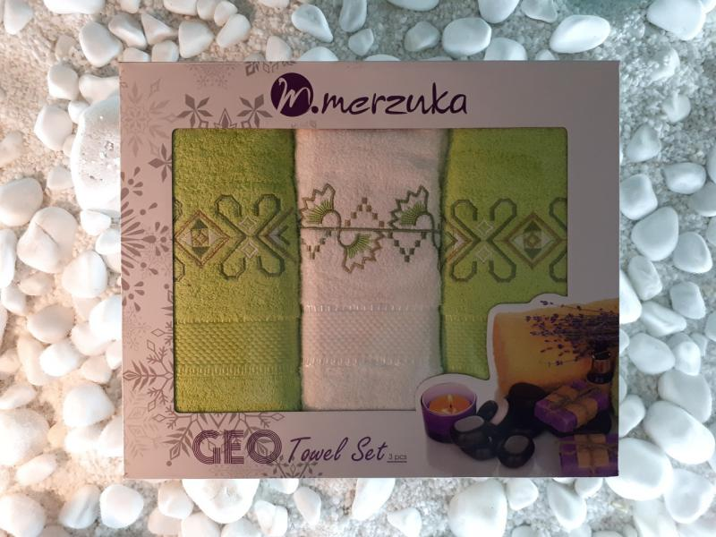 Подарочный набор полотенец Merzuka Турция (3 шт)