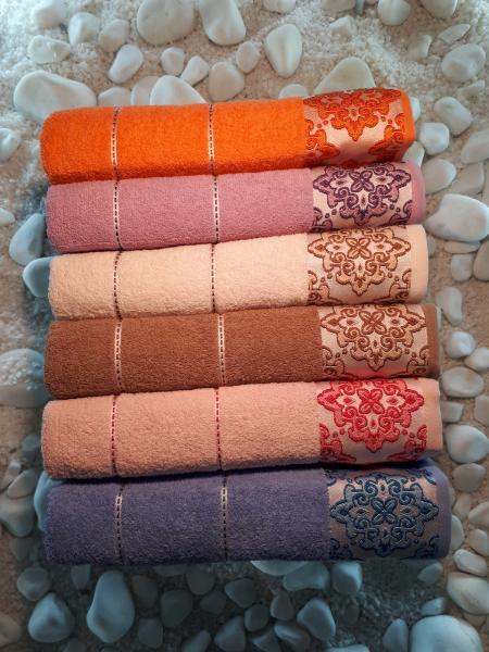Махровое полотенце 70*140 Julie Vip Cotton Турция