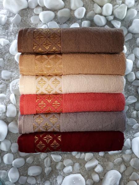 Махровое полотенце 50*90 Julie Vip Cotton Турция