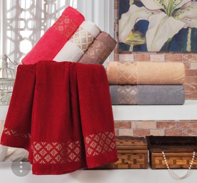 Фото Полотенца, Лицевые полотенца Махровое полотенце 50*90 Julie Vip Cotton Турция