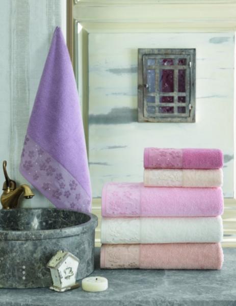 Махровое полотенце 50*90 Saheser Soft Kiss Турция