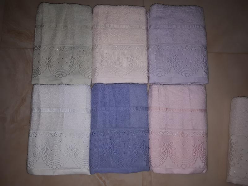 Фото Полотенца, Лицевые полотенца Махровое полотенце 50*90 Saheser Soft Kiss Турция
