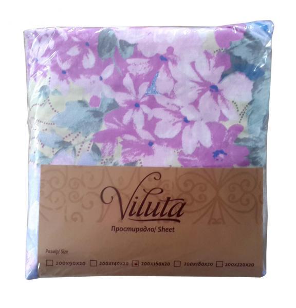 Простыня на резинке Ранфорс 160*200*20 Viluta