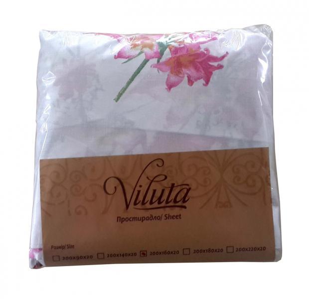 Простыня на резинке Ранфорс 90*200*20 Viluta