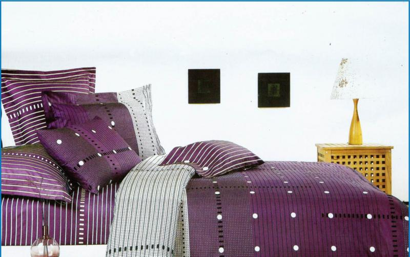 Постельное белье семейный Сатин  Leleka-textile
