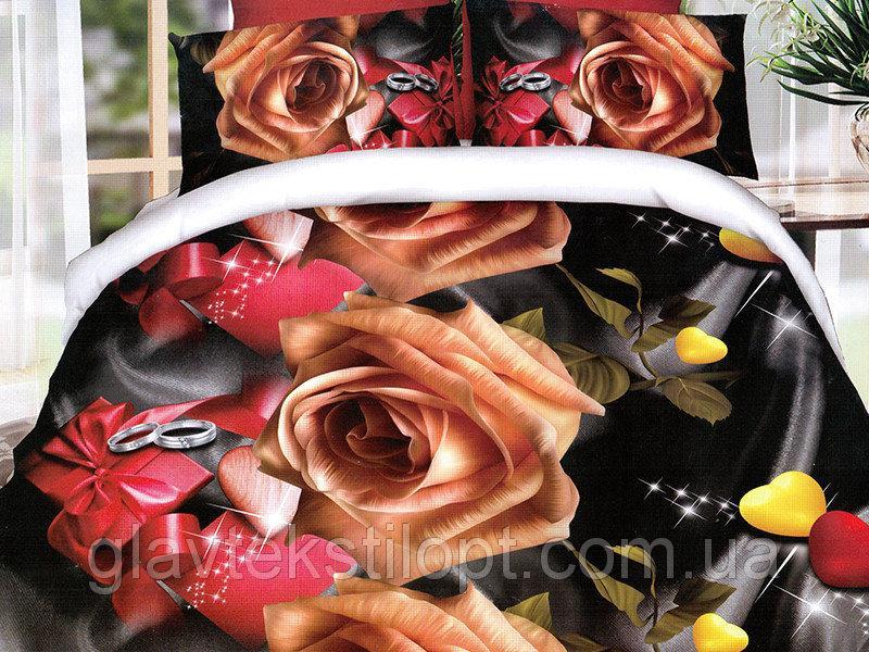 Фото Постельное белье, Постельное белье Полисатин 3D, Евро комплекты Постельное белье евро  Полисатин 3D Leleka-textile
