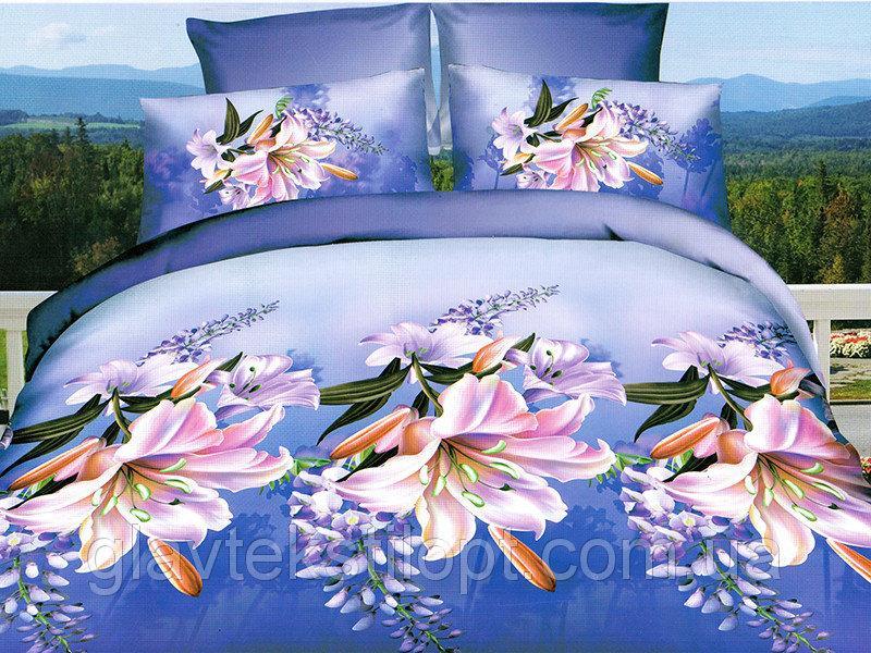 Фото Постельное белье, Постельное белье Полисатин 3D, Двуспальные комплекты Постельное белье 2,0  Полисатин 3D Leleka-textile