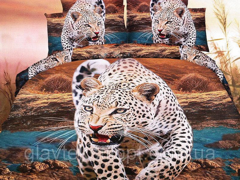 Фото Постельное белье, Постельное белье Полисатин 3D, Полуторные комплекты Постельное белье 1,5 Полисатин 3D Leleka-textile