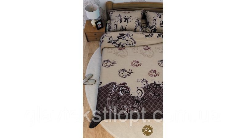 Постельное белье евро Ранфорс Leleka-textile