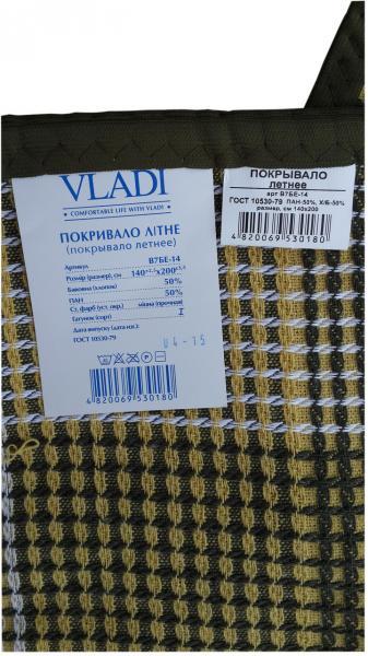 Фото Пледы и покрывала, Покрывала vladi Покрывало клетчатое 1,5  Vladi