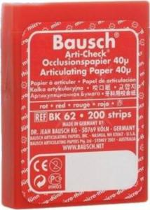 ВК 62 артикуляционная бумага красная 200 листов (Bausch)