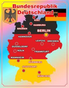 Фото 4.. Стенды для школ Стенд- карта Германии
