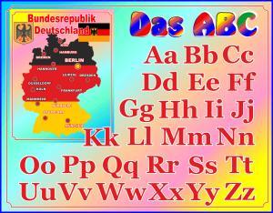 Фото 4.. Стенды для школ Стенд - алфавит. Немецкий язык